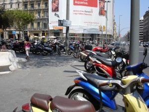 the best way to get around Barcelona is by scooter